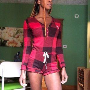 Buffalo Plaid Victoria's Secret PINK Onesie